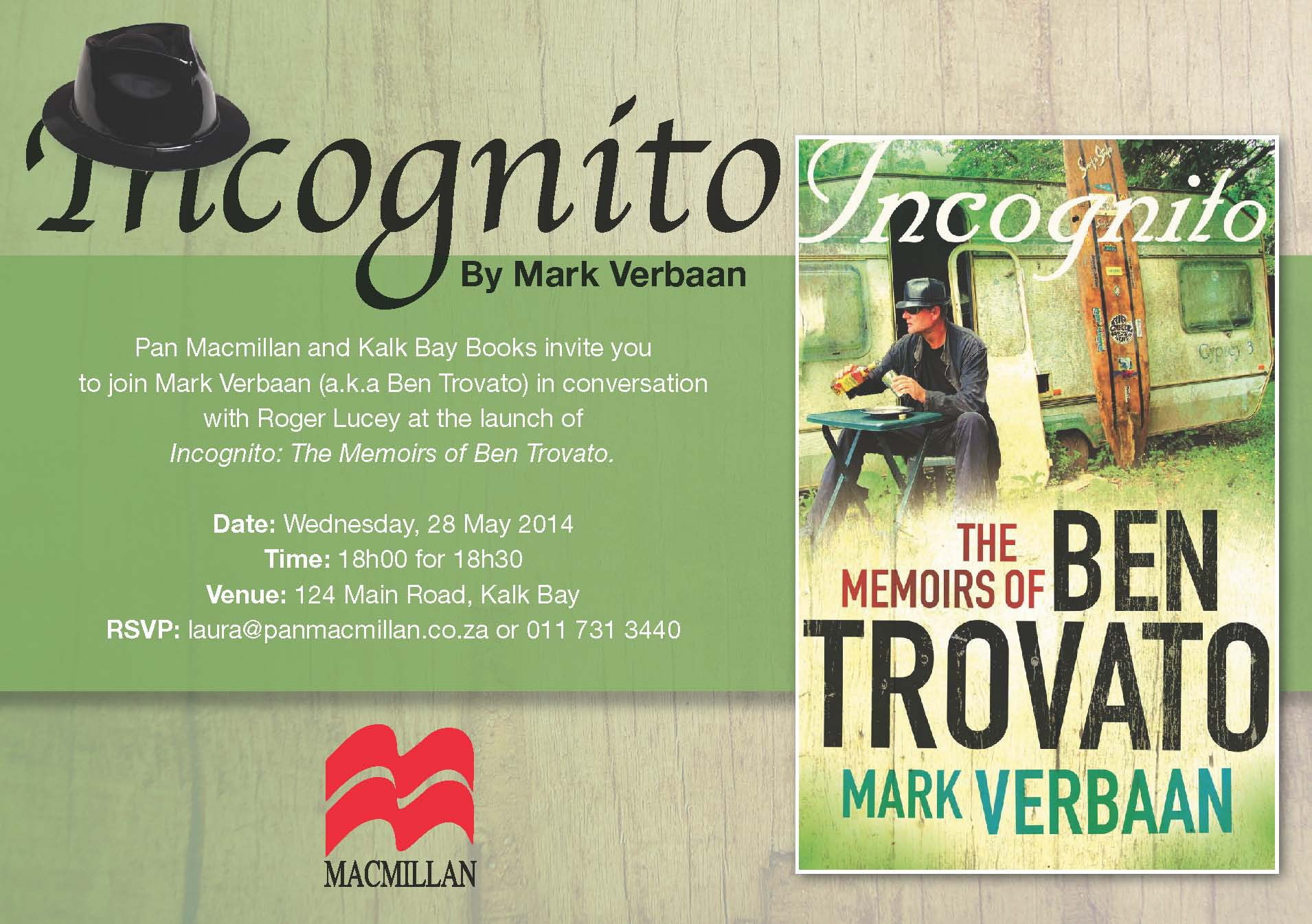 Incognito Launch - Kalk Bay Books - 28 May 2014